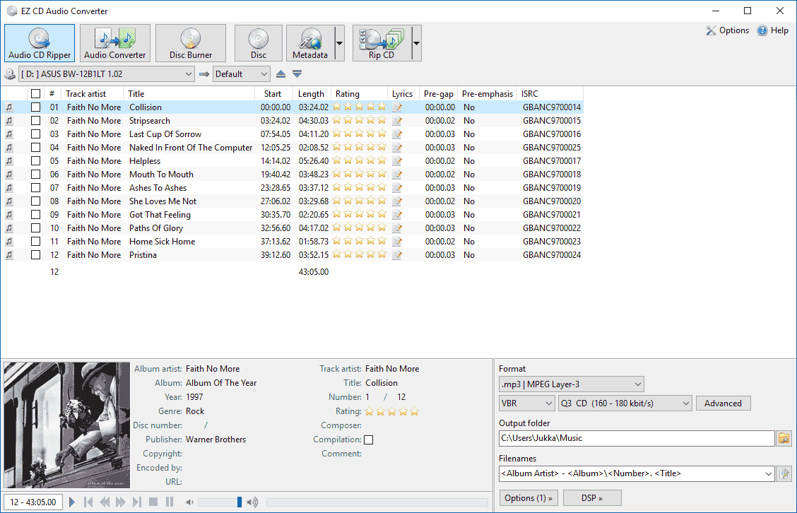 Click to view EZ CD Audio Converter Free screenshots