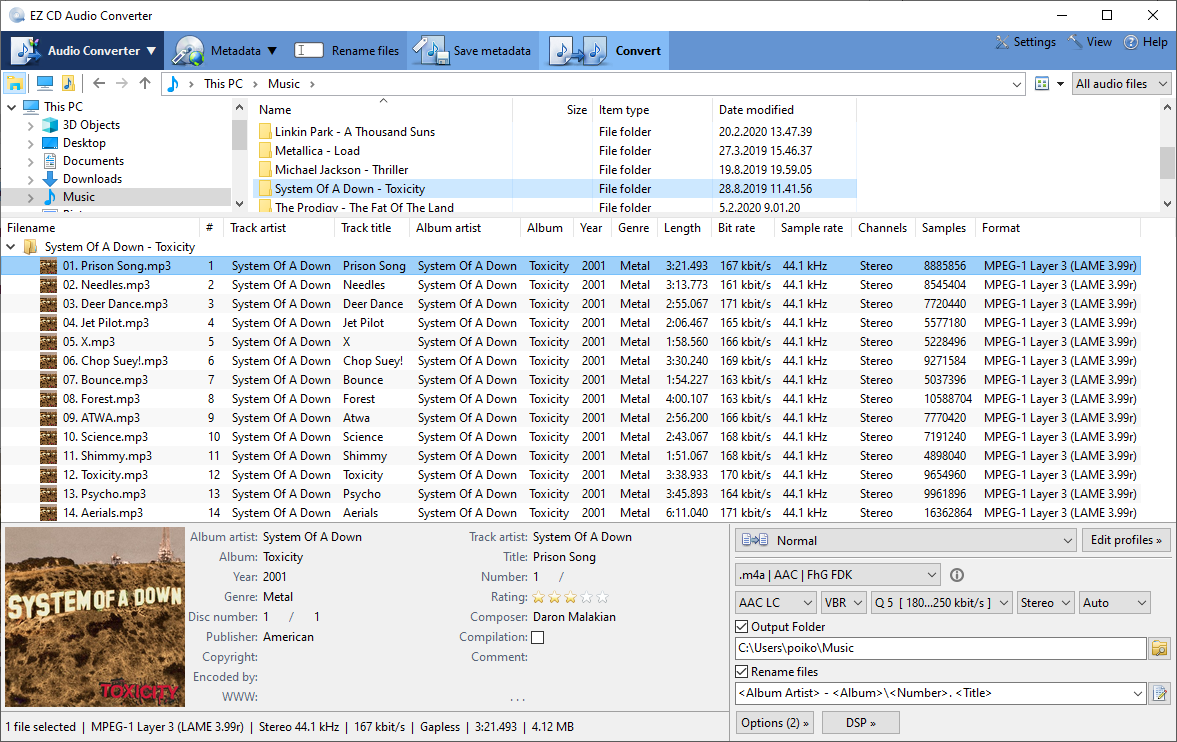Click to view Easy CD-DA Extractor 15.2.5 screenshot