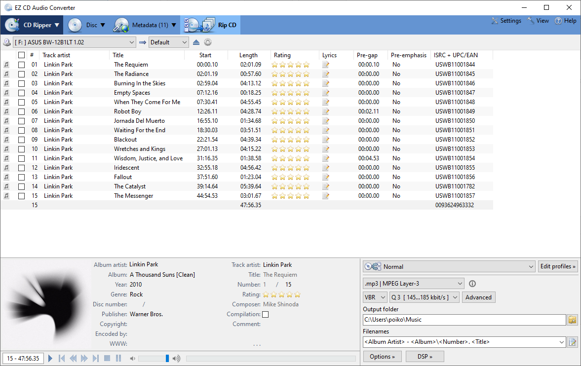 EZ CD Audio Converter screenshot